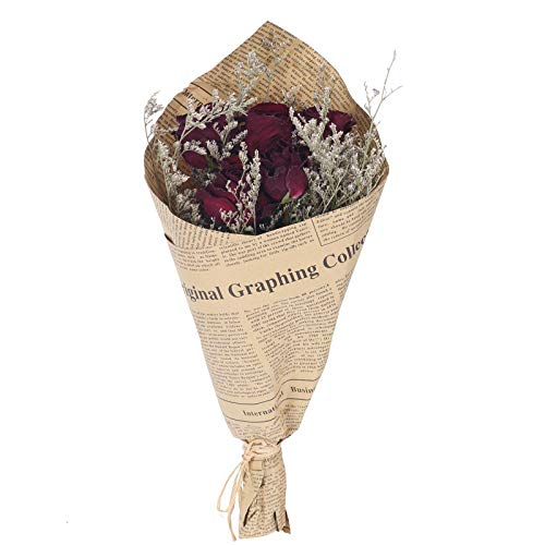 DWANCE Flores Secas Rosas Flores Secas Naturales Decoracion Ramos de Flores Secas Flores Flores Falsas para Decorar Casa Bodas