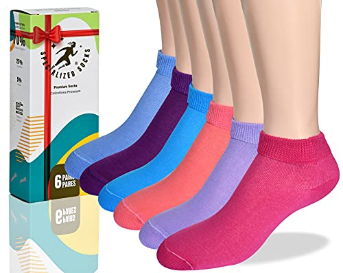 Diabetic socks Women, Ankle socks / Premium Quality & Thin