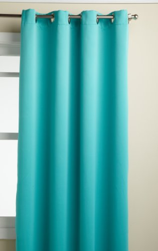 Lorraine Home Fashions Carnivale 53-Inch x 84-Inch Blackout Panel, Turquoise