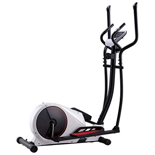 vidaXL Bicicleta Elíptica Casa Magnética Pulsómetro Pantalla LCD 8 Niveles Ajustables Bici Ejercicio Fitness Sensor Pulso Calorías Distancia Velocidad