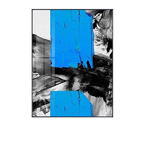 LiMengQi2 Resumen Multicolor Azul Amarillo Lienzo impresión Pintura Arte de la Pared Imagen póster Sala de Estar Oficina decoración del hogar (sin Marco)