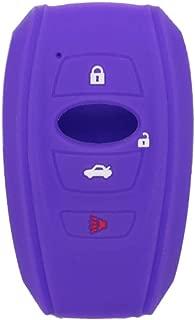 SEGADEN Silicone Cover Protector Case Skin Jacket fit for SUBARU 4 Button Smart Remote Key Fob CV4255 Deep Purple