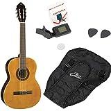 EKO Guitars – CS-10 Pack Guitarra Clásica CS10 en versión Pack con afinador, púas y funda