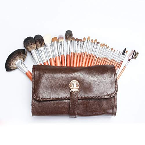 LNLW Professionele make-up kwast Kit 28 stuk set.Durable en makkelijk schoon.Makeup borstels for poeder, contour, blozen, concealer, oogschaduw, oog contour, wenkbrauwen, lip en