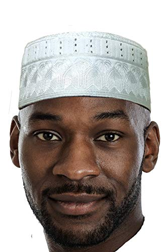 Dupsie's White Kofia Hat African Embroidered Kufi Cap