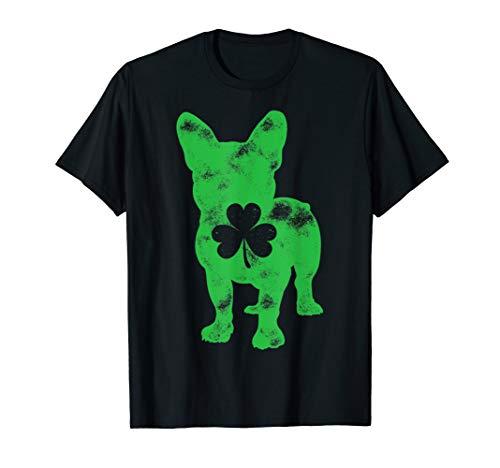French Bulldog St Patricks Day Boys Girls Shamrock Dog Lover T-Shirt