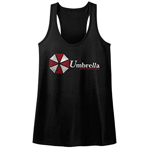 Resident Evil Horror Science Fiction Video Game Umbrella Corp Womens Tank Top T Black