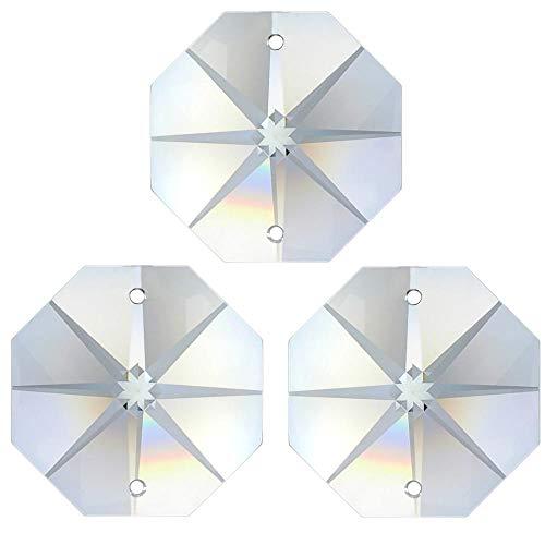 117x Regenbogenkristall Oktagon Stern ~ Koppe 10mm 2 Loch Crystal K9 ~ Feng Shui Kronleuchter Lüster