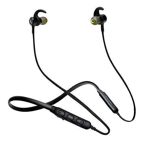 Red Lemon Dhoom D110 Sports Neckband,Buds, Vibration Alert, Bluetooth Wireless Earphone with Mic, 8hrs Battery & BT v5.0 (Jet Black)