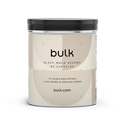 Bulk Schwarze Maca Kapseln, 4000 mg, 90 Kapseln, Verpackung Kann Variieren
