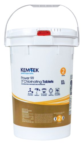 Kem-Tek Power 99 3' Chlorinating Tabs 50 Lbs