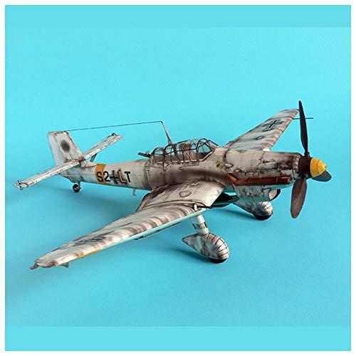 Lllunimon 1/33 Alemán JU-87 D-3 STUKA Dive Bomber Model Model, DIY 3D Modelo de Papel Modelo de construcción Juego Educativo Juguetes