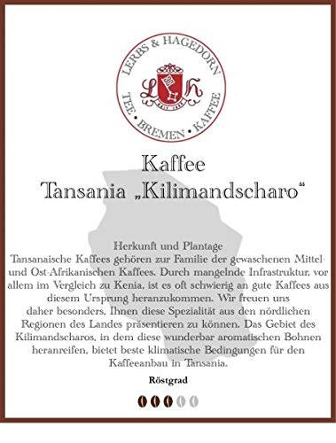 "Tansania ""Kilimandscharo"" Kaffee 1kg"