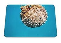 26cmx21cm マウスパッド (ウニの水中世界の棘) パターンカスタムの マウスパッド