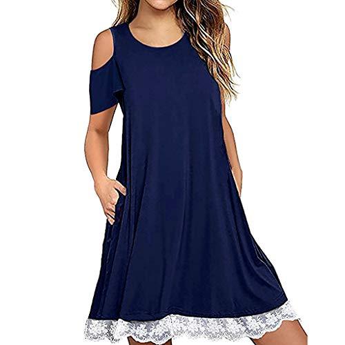 Vrouwen Korte Casual Jurk Zakken O-Hals Blouse Tuniek Stretch Mini Sundress Vest Camisole Wiggle Officewear