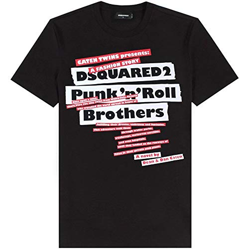 Dsquared2 T-Shirt con Stampa Punk ' n'roll Extra Large Black
