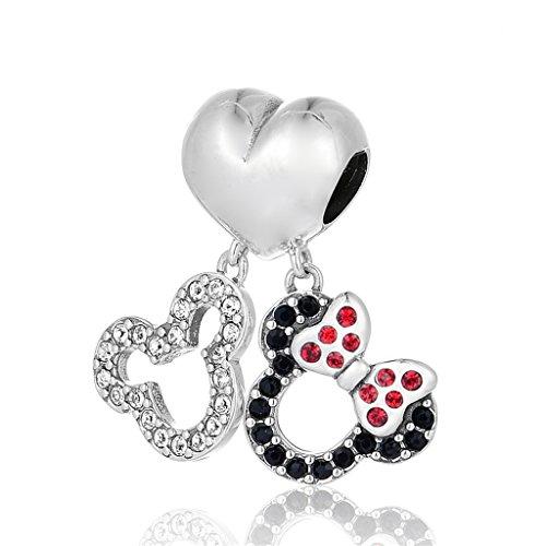 Mickey und Minnie Maus Doppel baumeln Charme