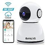BANLVS 1080P Cámara IP WiFi, Cámara de Vigilancia WiFi Interior FHD con Visión...