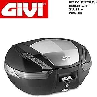 Topcase 47 liter V47NT + aansluiting SR79 Monokey compatibel met Aprilia Pegaso 650 Trail 2005 2011 GIVI met aluminium afw...