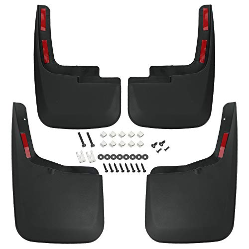 D-Lumina F150 Mud Flaps Compatible with Ford F-150 2015 2016 2017 2018 2019 2020 - with OEM Fender Flares Only, Heavy Duty Front and Rear Mudflaps Splash Guards, 4Piece/Set