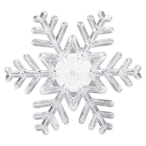 Tuipong LED Schneeflocke Innenfenster Licht mit Saugnapf, 7 Farben Ändern LED Nachtlicht für Weihnachten Urlaub Neujahr Dekorieren