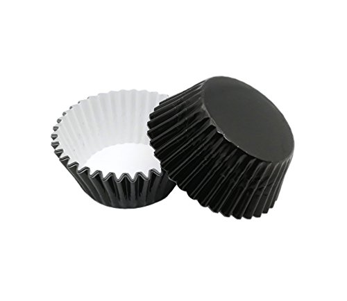 Foil Baking Cups Cupcake Liners, Standard Sized, 200 Count (Black)