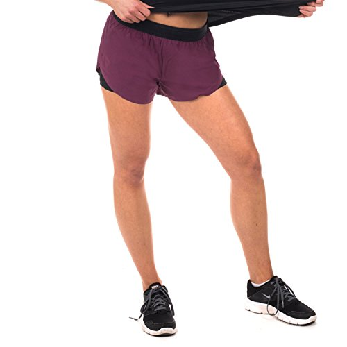 GYM AESTHETICS Two in One Shorts Diversity 2-Layer Damen Violett (L)