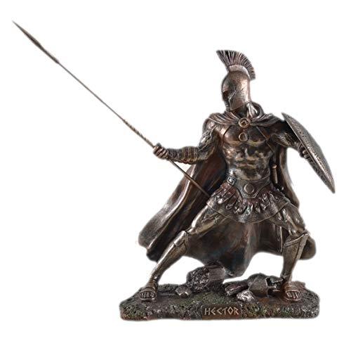 Unbekannt Statuetta di Hector Principe Troja Bronzato Scultura Achille