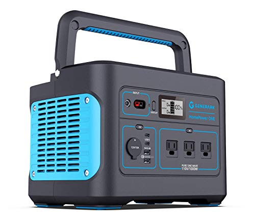 Generark HomePower ONE: Backup Battery Power Station For Homes, Emergency Power Supply. 1000W-2000W at 110V. Up To 7 Days of Backup Power. 8 Outlets. Easy Recharge by Portable Solar Generators.