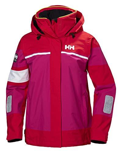 Helly Hansen Damen Salt Waterproof Lightweight Sailing Jacket Jacke, 147 Kirschtomate, Large