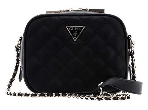 Guess Damen Cessily Mini Camera Bag Umhängetasche, schwarz, Einheitsgröße