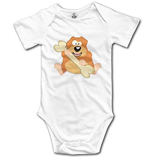 Klotr Unisexe Body Bébé Garçon Fille Dog Eat Bone Newborn Bodysuits Manche Courte Combinaisons et Barboteuses Set