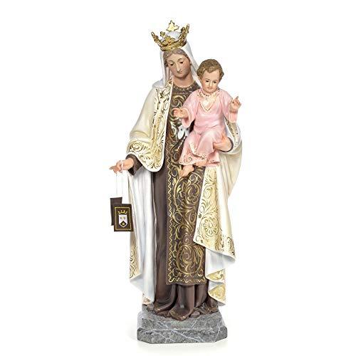 Holyart Virgen del Carmen 100cm Pasta de Madera DEC. Elegante