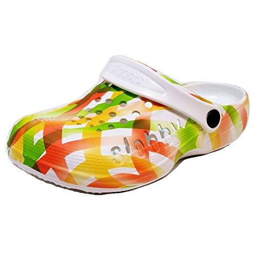 Damen Clogs Badeschuhe (54D) Badelatschen Pantoffel Pantoletten Schuhe Neu Größe 37, Farbe Orange