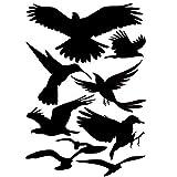 Nuluxi Adesivi Anticollisione per Uccelli Anti-collisione Adesivi per Uccelli Anti-collisione Decalcomanie per Finestre Sticker Decorativi da Finestra Adatto per Finestre e Porte perInterni ed Esterni