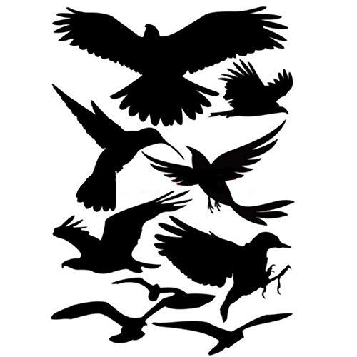 Nuluxi Pegatinas Anticolisión Puerta de Vidrio Pegatina de Advertencia para Pájaros Siluetas de Pájaros Puerta de Vidrio Pegatinas para Ventanas de Vidrio Visible y Protege a los Pájaros de Colisiones