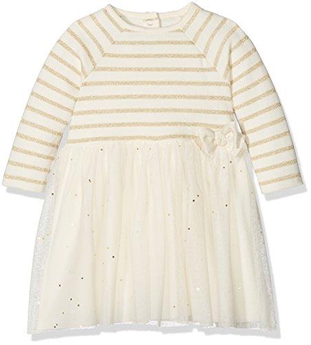Petit Bateau ROBE ML Robe Bébé fille Multicolore (Coquille/Lurex Dore) 2 ans (Taille fabricant: 24M 24MOIS)