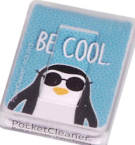 Reiniger voor smartphones tablets beeldschermen en brillen PocketCleaner, 6 x 4 cm, Lichtblauw - Be Cool