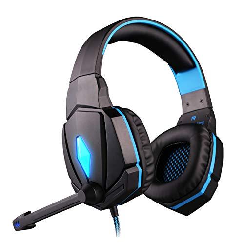 YYZLG G4000 Computer Gaming Headset Headset mit Mikrofon-Subwoofer-Trendkopfhörern-Blue
