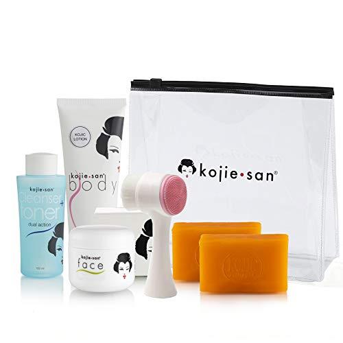 Original Kojie San 5 Piece Set - Soap, Toner, Lotion, Cream & Brush - Guaranteed Authentic