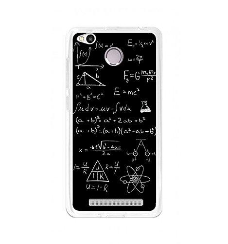 Tumundosmartphone Funda Gel TPU para XIAOMI REDMI 3S / 3X / 3 Pro diseño Formulas Dibujos