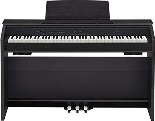 Casio PX850 BK 88-Key Touch Sensitive Privia Digital Piano with 4...