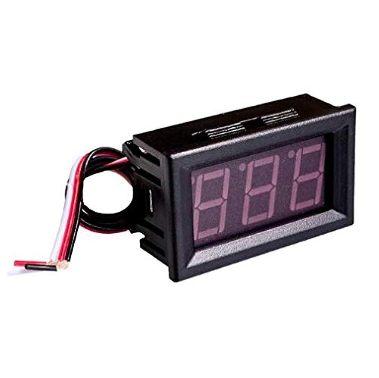 煩わしい数学咽頭WillBest 0.56 inch LCD DC 4.5-30V Red LED Panel Meter Digital Voltmeter with three-wire Electrical Instruments Voltage Meters