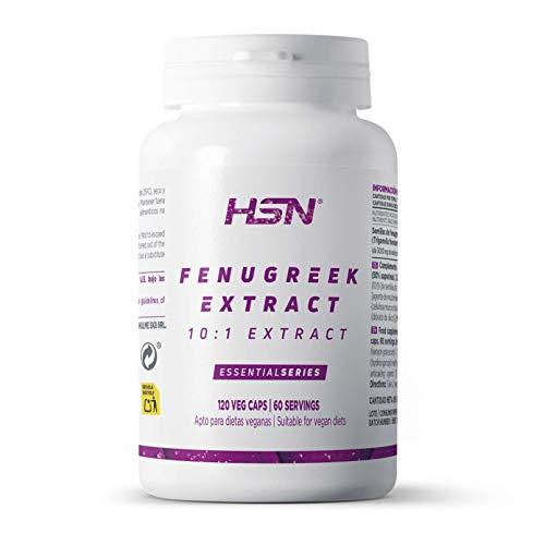 HSN Essentials Fenogreco Trigonella foenum-graecum, 500mg, 50% Saponinas, Vegano, Sin Gluten, Sin Lactosa - 120 Cápsulas