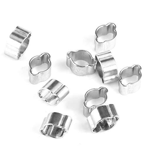 Abrazadera de manguera, 10 piezas de abrazadera de manguera de dos orejas de acero inoxidable chapado en zinc 5-23 mm para tubo de tubería de gasolina Fule(5-7MM)