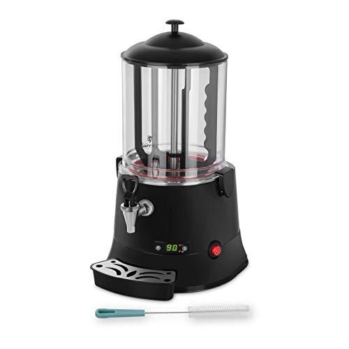 Royal Catering Dispensador De Chocolate Caliente Máquina Comercial RCSS-10 ECO (10 L, 440 W, Temperatura 30-90 °C, libre de BPA, pantalla LED)