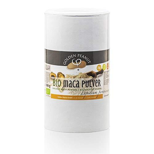 Bio Maca Pulver, Premium-Qualität aus Peru, 500 g Dose, rückstandskontrolliert und abgefüllt in Deutschland, aus kontrolliert biologischem Anbau, Ohne Zusatz- und Konservierungsmittel, Vegan
