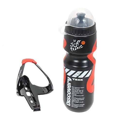 650 ml Bottiglia d' Acqua + Cremagliera di Supporto MTB per Bici