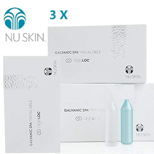 Nu Skin Galvanic Spa Facial Gels with Ageloc*pack of 3 by Nu Skin