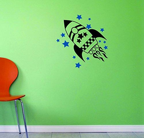 Motif Vinyle Avec 2 recharges de 2291 2 Hot nouveaux autocollants Rocket Art mural Taille X 40,6 cm Couleur, 40,6 x 40,6 cm, Multi